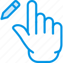 edit, interaction, finger, gesture, hand icon