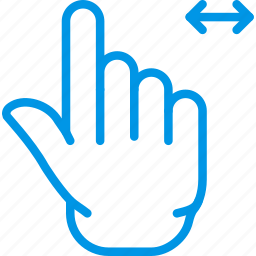 finger, gesture, hand, interaction, slide icon