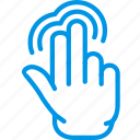 interaction, double, hand, finger, push, gesture icon
