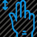 finger, gesture, hand, horizontally, interaction, slide icon