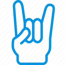 finger, gesture, hand, interaction, on, rock icon