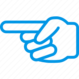finger, gesture, hand, interaction, left, show icon