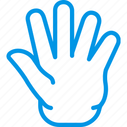 finger, full, gesture, hand, interaction icon