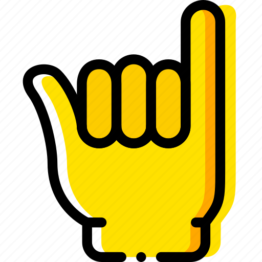 finger, gesture, hand, interaction, pinkie icon