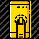 finger, gesture, hand, interaction, press, smartphone icon