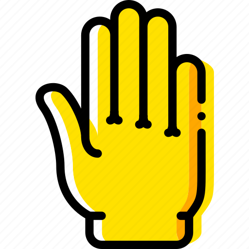 finger, fingers, five, gesture, hand, interaction icon