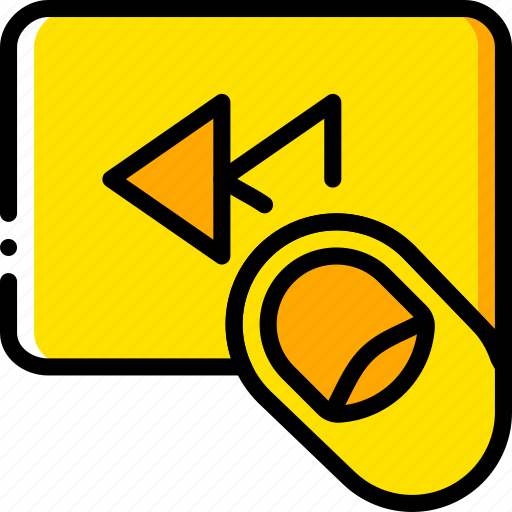 backward, fast, finger, gesture, hand, interaction icon