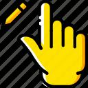 edit, finger, gesture, hand, interaction