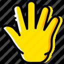 finger, fingers, five, gesture, hand, interaction