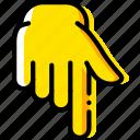 down, finger, gesture, hand, interaction, show