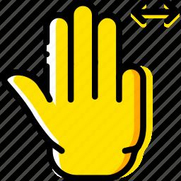 finger, gesture, hand, interaction, slide, triple icon