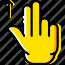 finger, gesture, hand, interaction, slide, up
