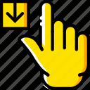 download, finger, gesture, hand, interaction