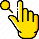 finger, gesture, hand, interaction, search
