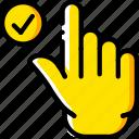finger, gesture, hand, interaction, success