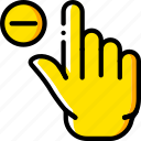 finger, gesture, hand, interaction, substract