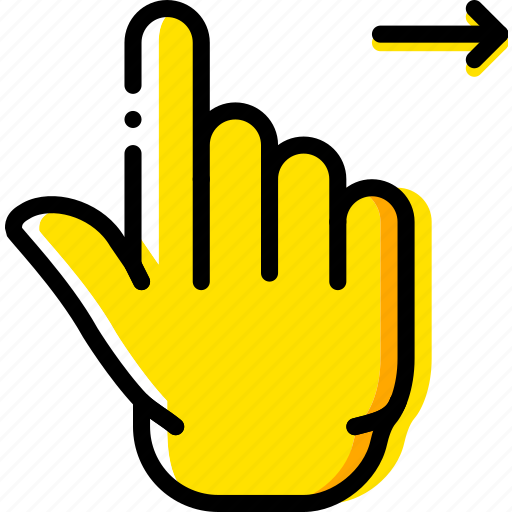 finger, gesture, hand, interaction, right, slide icon