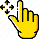 finger, gesture, hand, interaction, move