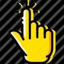 finger, gesture, hand, interaction, press