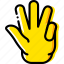 finger, fingers, four, gesture, hand, interaction icon