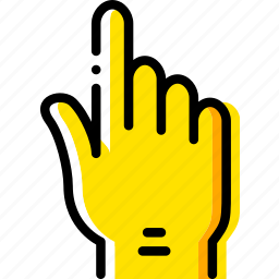 finger, gesture, hand, interaction, show, up icon