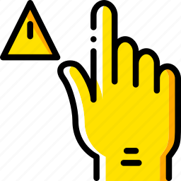 finger, gesture, hand, interaction, waarning icon