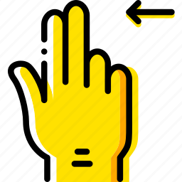 finger, gesture, hand, interaction, left, slide icon