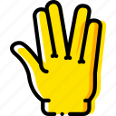 alien, finger, fingers, gesture, hand, interaction icon