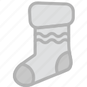 christmas, holidays, sock, travel icon