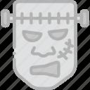 frankenstein, holidays, monster, travel icon