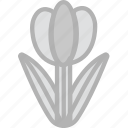 holidays, travel, tulip icon