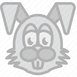 bunny, easter, holidays, travel icon