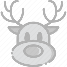holidays, reindeer, travel icon
