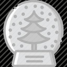 globe, holidays, snow, travel icon