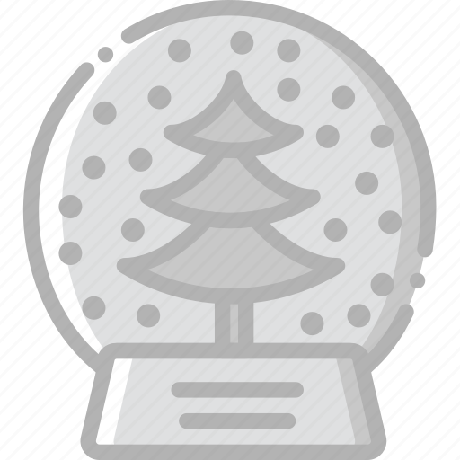 globe, holidays, snow, travel icon