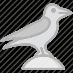 holidays, raven, travel icon