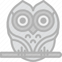 holidays, owl, travel icon