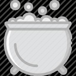 bubbling, cauldron, holidays, travel icon