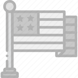 american, flag, holidays, travel icon