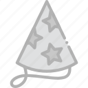 hat, holidays, party, travel icon
