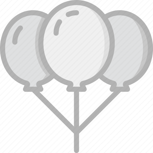 balloons, holidays, travel icon