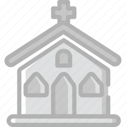 church, holidays, travel icon