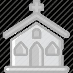 church, holidays, travel icon
