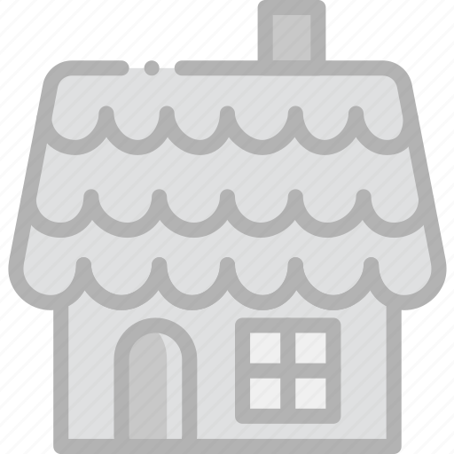 gingerbread, holidays, house, travel icon