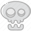 holidays, skull, travel icon