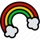 holidays, lucky, rainbow, relax, travel icon