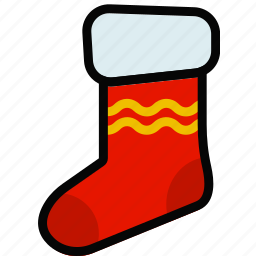 christmas, holidays, relax, sock, travel icon