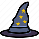 hat, holidays, relax, travel, wizard icon