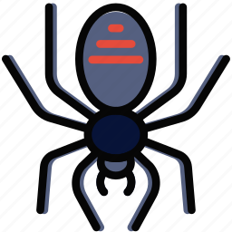 holidays, relax, spider, travel icon