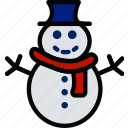 holidays, relax, snowman, travel icon